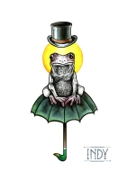 frog flah tattoo grenouille crapeau chapeau hat indy artwork dotwork paris france tatoueuse artist tattooist art bodyart illustration ink inked automne colors tattoo tats