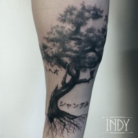 tree indy bonsai tattoo arbre indyartwork tatouage dotwork arm tattooist paris ink inked