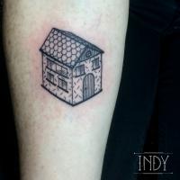 maisonnette maison dessin enfant graphic tattoo tatouage indy tattoo paris france cute