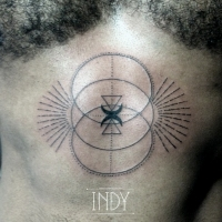 solar plexus dots graphic tattoo black work indy indy_artwork tatouage tatuaje tattoo ink paris france artit tattooist symbol esothérisme religion plexus solaire