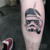 Stormtrooper starwars star wars captain sailor tattoo taouage tatuaje paris frnace art tattooist tatoueur black work art trash