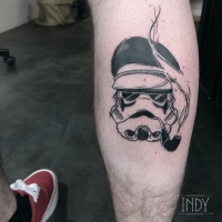 Stormtrooper starwars star wars captain sailor tattoo taouage tatuaje paris frnace art tattooist tatoueur black work art trash