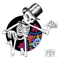 skull skeleton dot dots dotwork squelette chapeau hat gravure engraved engraving cigare motifs mexicains mexican pattern dia de los muertos muerte colors tattoo flash paris france