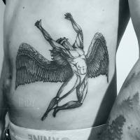 tat tattoo tatouage paris france tattooist tatoueur tatoueuse art bodyart ink inked dot dotwork graphic inker dotworker artist pattern motif symbol minimalist blackwork ledzep led zeppelin cover album musique music swan song swansong gravure engraving